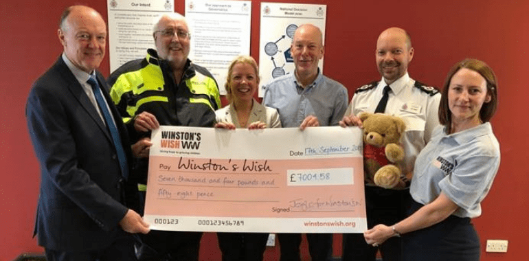 Winston's Wish visits Gloucestershire Constabulary